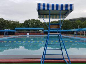 eau ciel été Voyage des loisirs piscine parc d'attractions piscine parc loisir stade la natation Cour de récréation sécurité Pause parc aquatique gonflable la stabilité zone de loisirs temps nuageux guérison piscine extérieure Eau de la vallée Souffler Toboggan pour aire de jeux